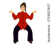 girl in the yoga asana pose... | Shutterstock .eps vector #1753027817