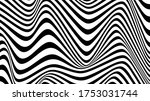 black and white line curve... | Shutterstock .eps vector #1753031744