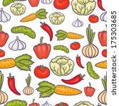 veggie seamless vector pattern... | Shutterstock .eps vector #175303685