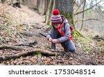 Portrait Of Girl On Hiking...