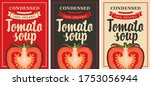 labels for a condensed tomato... | Shutterstock .eps vector #1753056944