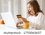 Photo of excited cute girl...