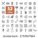 barbecue and bbq grill icon set....