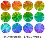 rainbow round metallic gradient ...