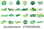 organic natural bio labels set... | Shutterstock .eps vector #1753108181