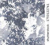 splatter brush stroke surface.... | Shutterstock .eps vector #1753122761