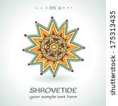 shrovetide sun. farewell to... | Shutterstock .eps vector #175313435
