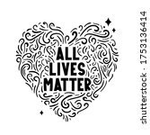 All Lives Matter Text Label...