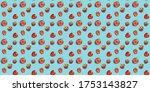 seamless food pattern  ripe...   Shutterstock . vector #1753143827