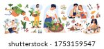set of different people enjoy... | Shutterstock .eps vector #1753159547