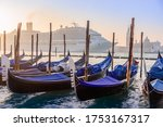Gondolas At Sunrise  And A Huge ...