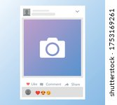 photo frame template for... | Shutterstock .eps vector #1753169261