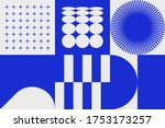 geometric distress aesthetics... | Shutterstock .eps vector #1753173257