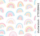 cute kids rainbow pattern... | Shutterstock .eps vector #1753188461