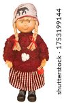 Funny Christmas Doll In Knitte...