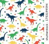Dinosaurs And Footprints Vector ...