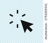 cursor icon.mouse cursor vector....   Shutterstock .eps vector #1753205531