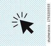 cursor icon.mouse cursor vector....   Shutterstock .eps vector #1753205555