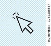 cursor linear icon.mouse cursor ...   Shutterstock .eps vector #1753205657