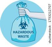 icon showing hazardous waste...   Shutterstock .eps vector #1753212707