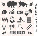 Vector Set  Stock Market Icons...
