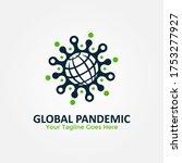 global pandemic logo vector....   Shutterstock .eps vector #1753277927