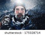 Adventure Mountain Man In Snow...