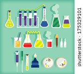 bacteria,beaker,chemical,chemistry,concept,dropper,education,equipment,experiment,flat,funnel,graphic,icon,illustration,info