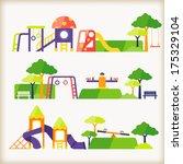 playground    Shutterstock .eps vector #175329104