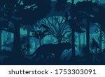 vector evening tropical... | Shutterstock .eps vector #1753303091