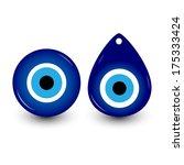 vector illustration of evil eye ... | Shutterstock .eps vector #175333424