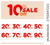 discount sale talkers or tags... | Shutterstock .eps vector #1753347221