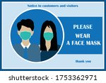 wear face mask sign and symbol. ... | Shutterstock .eps vector #1753362971