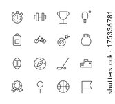 thin line icons for sport.... | Shutterstock . vector #175336781