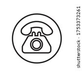 telephone icon vector... | Shutterstock .eps vector #1753373261