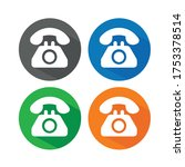 telephone icon vector... | Shutterstock .eps vector #1753378514