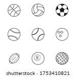 sport outline icons set on... | Shutterstock .eps vector #1753410821