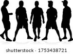 silhouettes of a man  concept... | Shutterstock .eps vector #1753438721