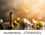 golden king chess standing...   Shutterstock . vector #1753442321
