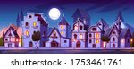 medieval town street with old... | Shutterstock .eps vector #1753461761