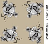 graphic flower ornament | Shutterstock .eps vector #175346585