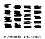 set of black brush strokes.... | Shutterstock .eps vector #1753484807