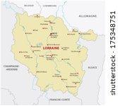 lorraine map - stock vector