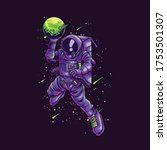 Astronaut Slamdunk Illustration ...
