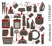 vector cleaning icons set for... | Shutterstock .eps vector #175351847
