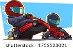 kart racers. kart racing....   Shutterstock .eps vector #1753523021