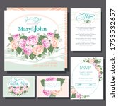 wedding invitations card with... | Shutterstock .eps vector #1753532657