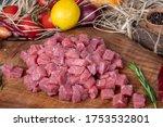 Raw Chopped Lamb Fillet  Diced...