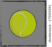 tennis ball is equipment for... | Shutterstock .eps vector #175353341