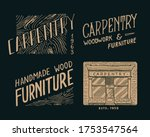 wooden labels for workshop or... | Shutterstock .eps vector #1753547564